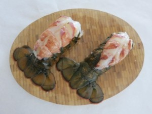 Baked Lobster with Mango Sauce - Lobster Tail 4