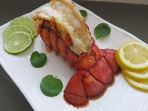 Baked Lobster with Mango Sauce - Lobster Tail 5